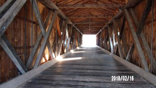 Inside the Covered Bridge